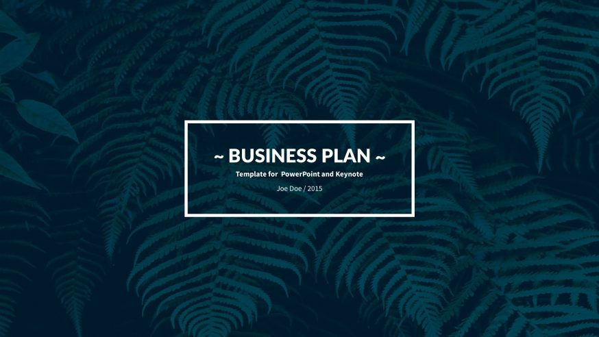 Business Plan Keynote Template