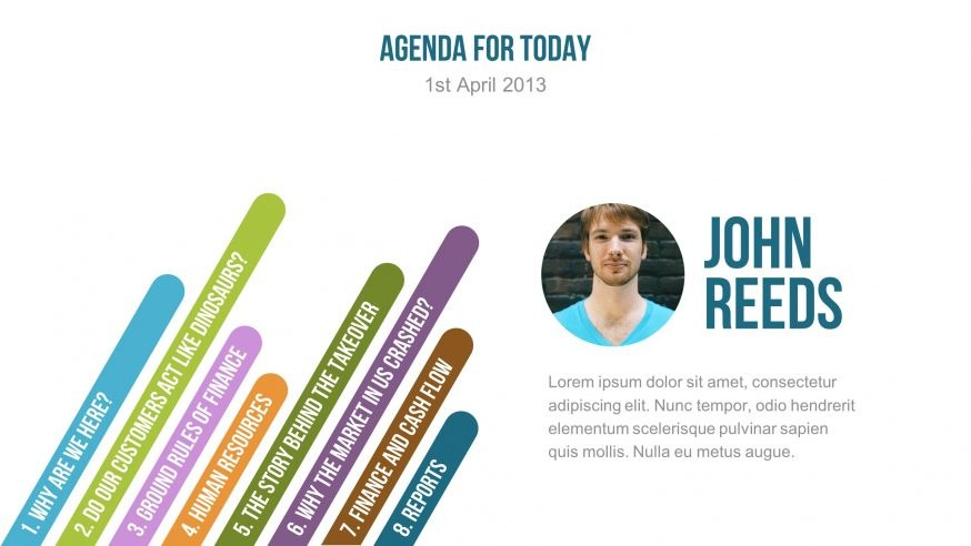 Simple and Colorful Presentation Template