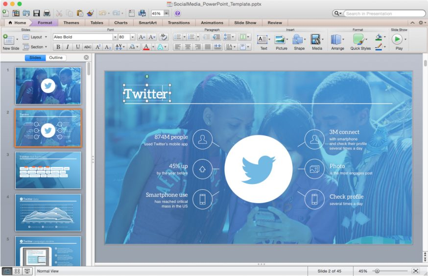 Powerpoint templates for mac improve presentation social media template toneelgroepblik Image collections